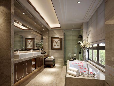 卫生间吊顶新中式风格装潢设计图片