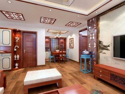 客厅门厅中式风格装修效果图