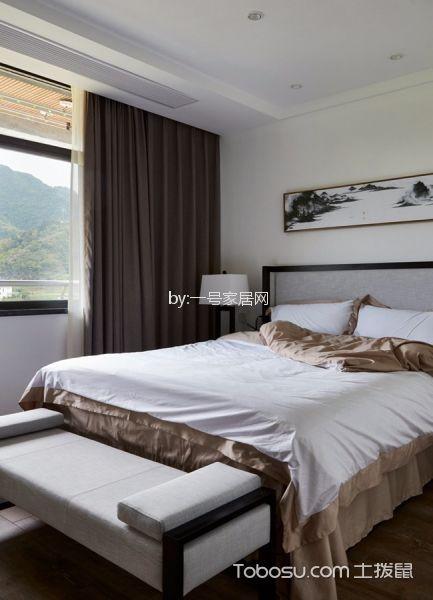 卧室白色床简中风格装潢图片