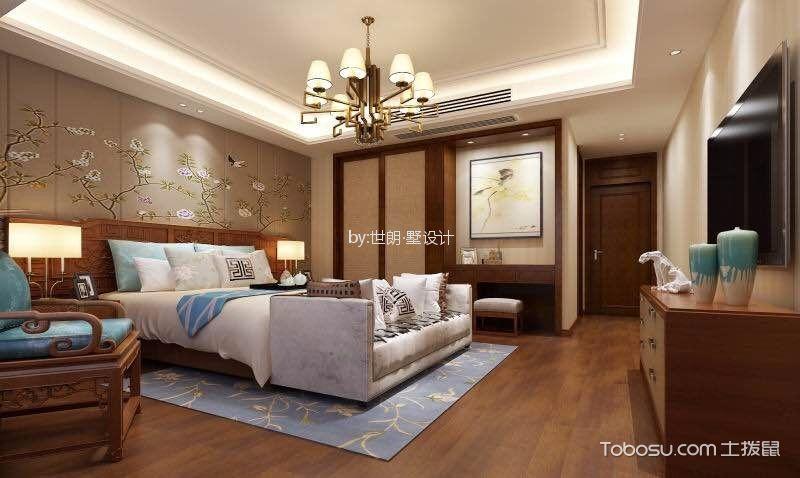 卧室咖啡色梳妆台新中式风格装潢图片