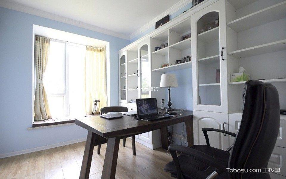 书房 窗帘_7.8万预算90平米两室两厅装修效果图