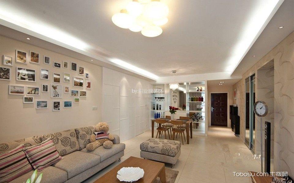 100平现代简约风格三居室装修实景图