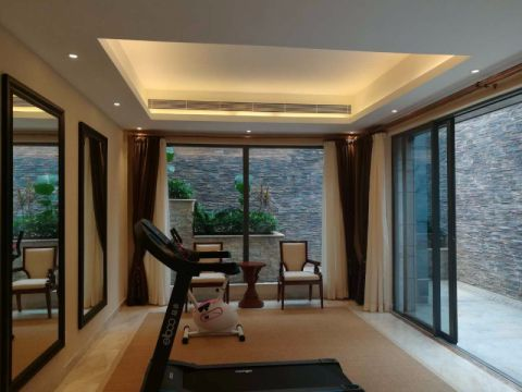 阳台背景墙东南亚风格效果图