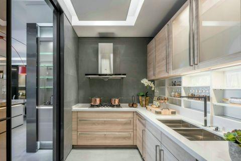 厨房推拉门现代风格装修设计图片