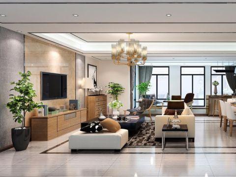 南湖国际140平中式三居室装修效果图