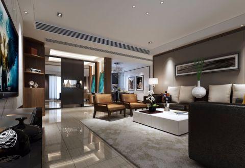 常发豪庭国际175平简单风格大户型装修样板间