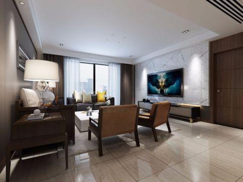 客厅窗帘简单风格装饰图片