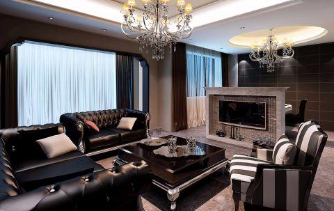 客厅隔断后现代风格效果图