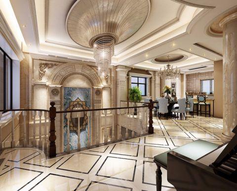 餐厅走廊法式风格装饰效果图