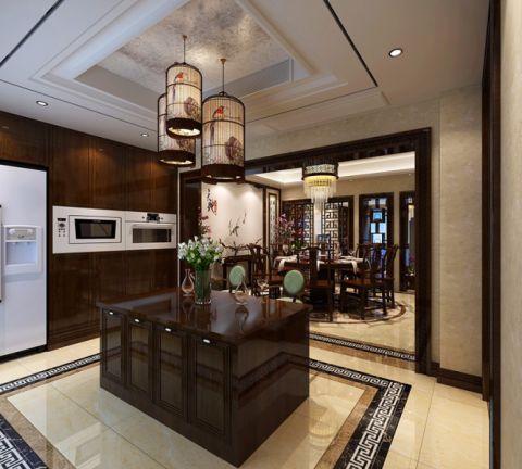 厨房厨房岛台中式风格装潢设计图片