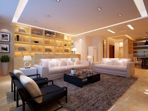 客厅博古架现代简约风格装饰效果图