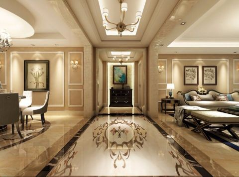玄关走廊欧式风格装潢设计图片