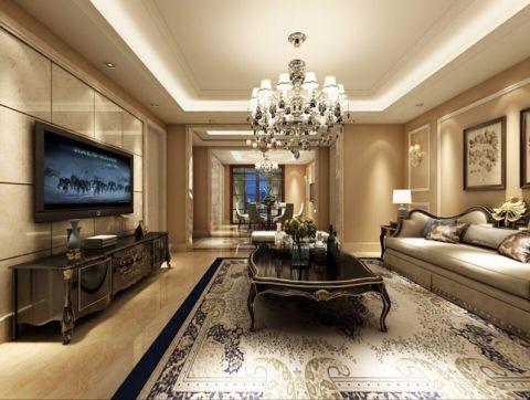 客厅电视柜欧式风格装修效果图