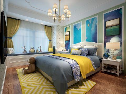 卧室背景墙法式风格装饰效果图