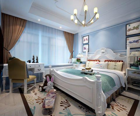 卧室吊顶法式风格装潢效果图