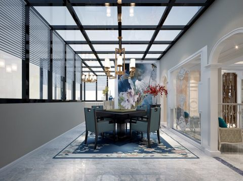 阳光房吊顶法式风格装潢图片