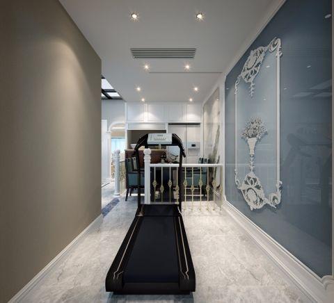 健身房背景墙法式风格装修设计图片