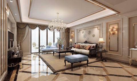 客厅地砖新古典风格效果图