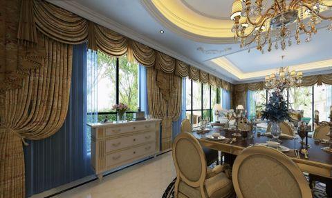 餐厅窗帘欧式风格装饰效果图