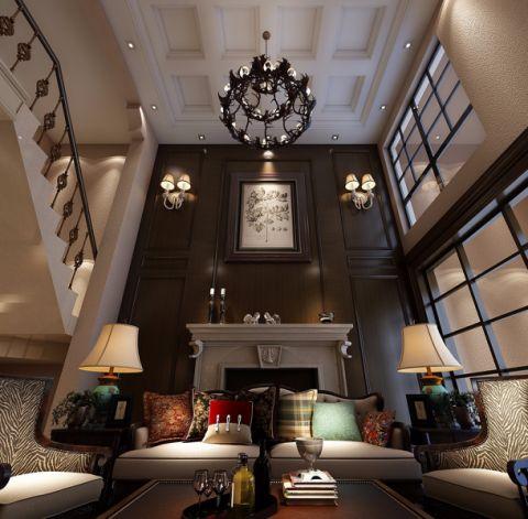 客厅沙发美式风格装潢图片