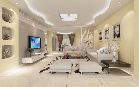 金川门小区100平米现代简约二居室装修效果图