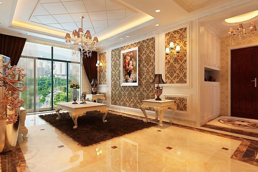 3室1卫2厅104平米简欧风格