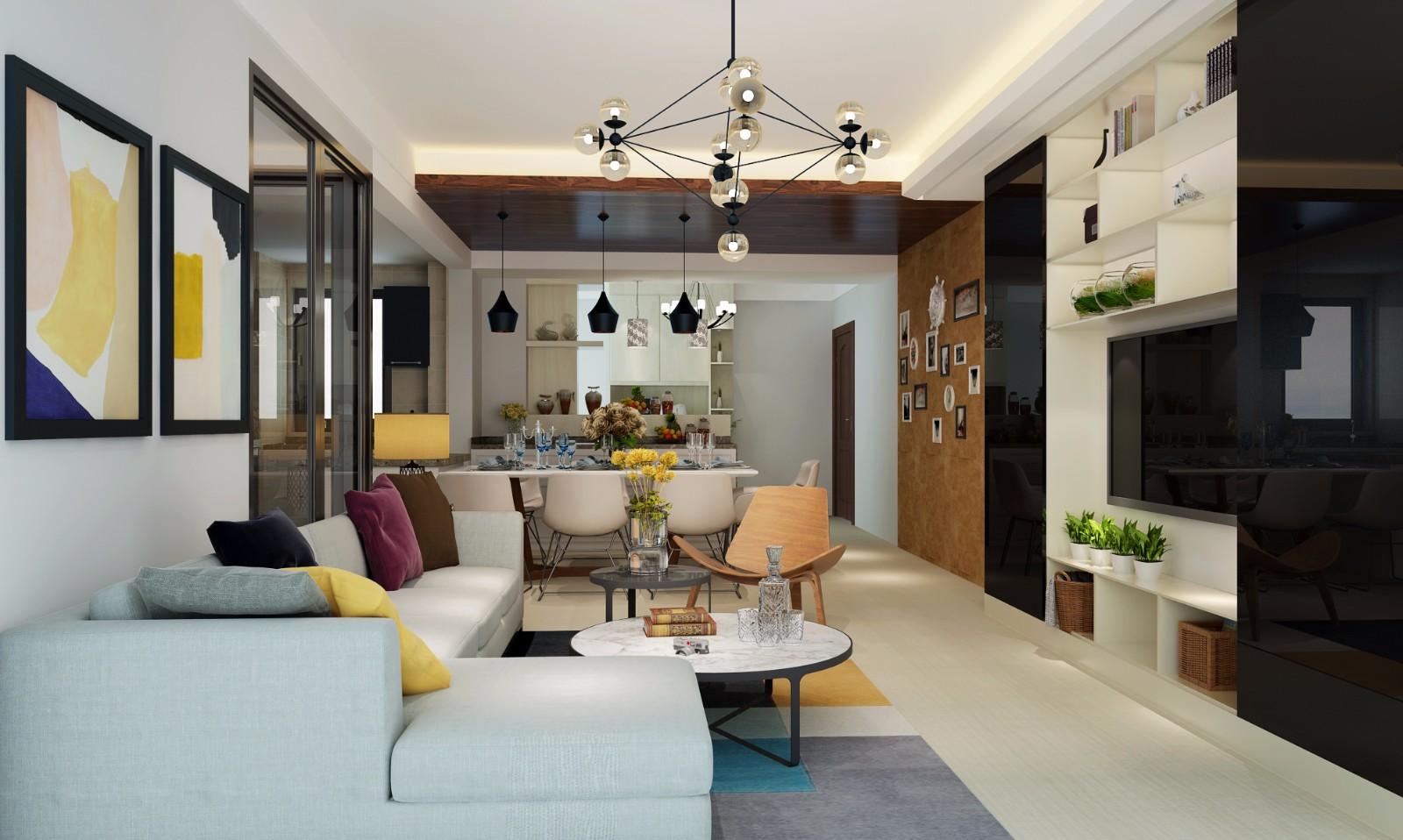 3室2衛2廳124平米現代風格