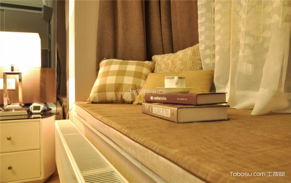 卧室黄色细节现代风格装饰图片