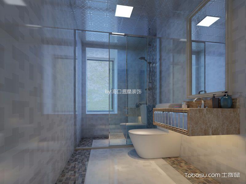 卫生间白色隔断简约风格装饰图片