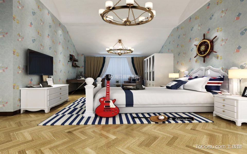 儿童房彩色背景墙混搭风格装潢图片