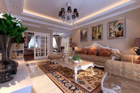 橡树湾欧式风格110平米三居室装修效果图