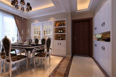 餐厅走廊欧式风格装潢效果图