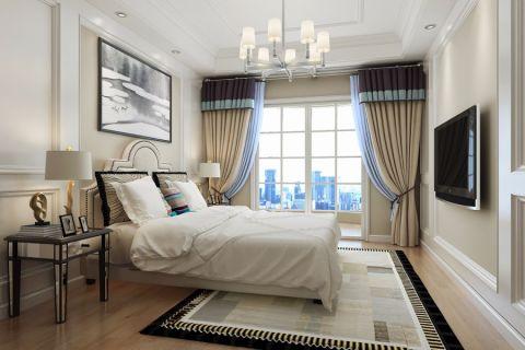 卧室窗帘混搭风格装饰设计图片