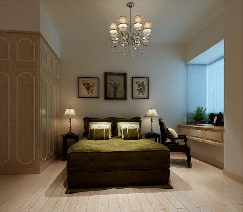 卧室背景墙简欧风格装饰图片