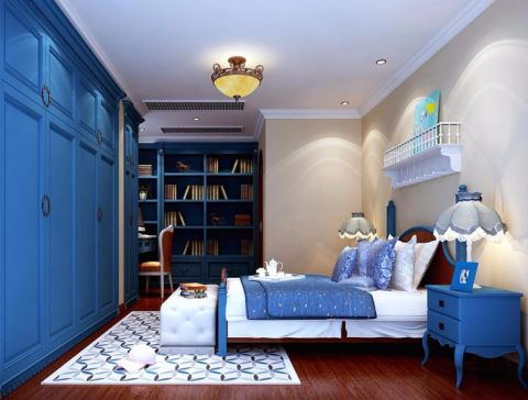 卧室衣柜地中海风格效果图