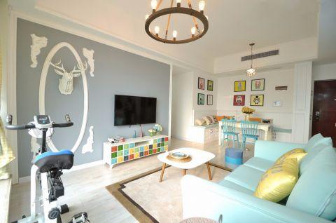 7.5万预算100平米两室两厅装修效果图