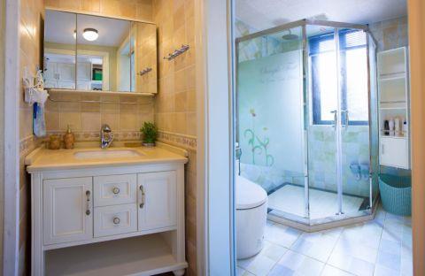 卫生间推拉门美式风格装饰效果图