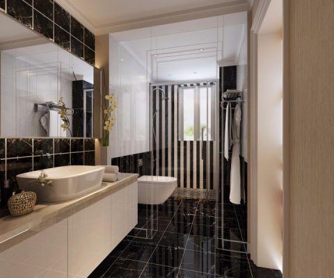 卫生间隔断简约风格装饰设计图片