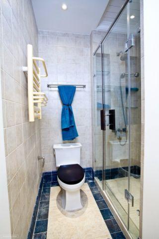 卫生间隔断地中海风格装饰设计图片