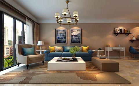 10万预算95平米三室两厅装修效果图