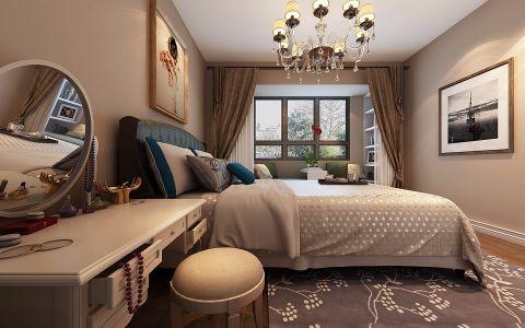 卧室梳妆台美式风格装潢设计图片