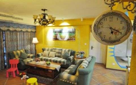 8万预算80平米两室两厅装修效果图