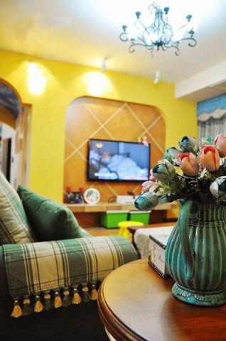 大华公园世家80平二居室韩式装修效果图