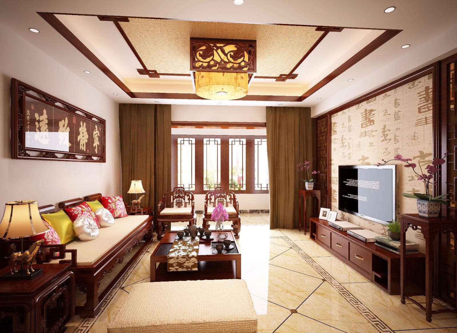 3室2衛2廳160平米中式風格