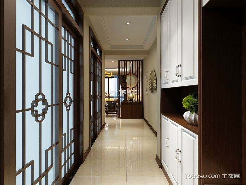 西安曲江公馆和园260平米新中式风格效果图