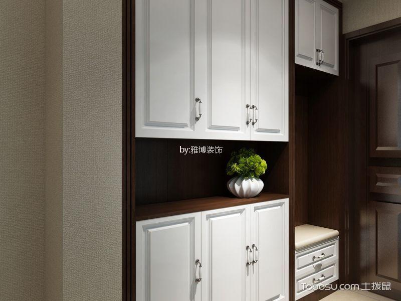 玄关白色鞋柜新中式风格装修图片