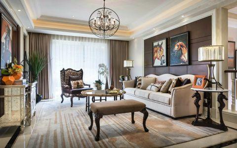 景城名轩美式风格四居室装修效果图
