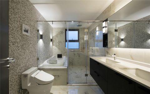 卫生间隔断现代简约风格装饰效果图