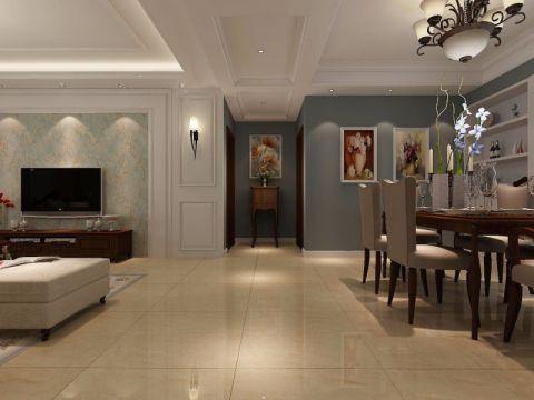 玄关走廊美式风格装饰设计图片