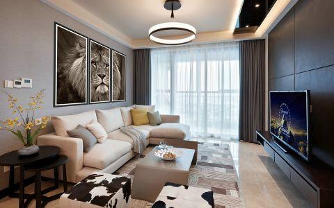 翡丽蓝湾现代风格三居室装修样板间